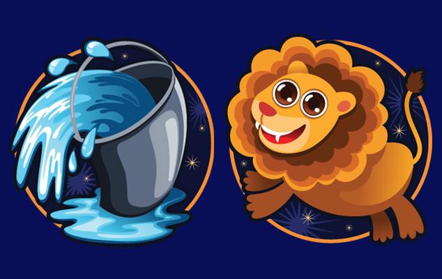 Любовь водолея со львом