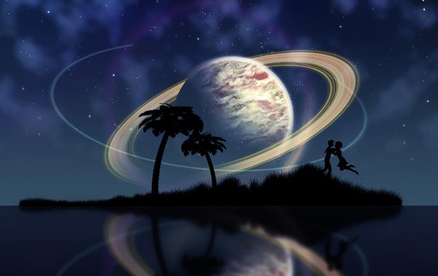Секстиль сатурн луна