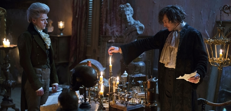 Programme Name: Jonathan Strange & Mr Norrell - TX: n/a - Episode: Ep6 (No. 6) - Picture Shows: (L-R) The Gentleman (MARC WARREN), Jonathan Strange (BERTIE CARVEL) - (C) JSMN Ltd - Photographer: Matt Squire