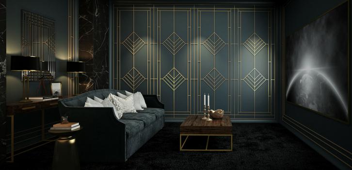 Если мебель, то разных оттенков коричневого цвета; диваны и кресла — коричневого и зеленого