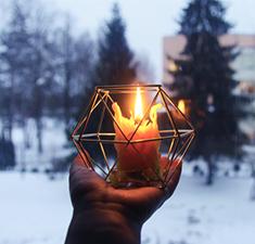 Снятие негатива сотношений отливкой воском иогнем свечей отРаисы Альтман
